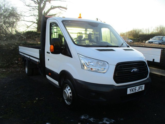 2015 15 FORD TRANSIT  350 2.2 TDCI DIESEL125 BHP EXTENDED LWB DROPSIDE SINGLE CAB MANUAL
