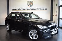 """USED 2014 14 BMW X1 2.0 XDRIVE20D M SPORT 5DR 181 BHP superb service history *NO ADMIN FEES* FINISHED IN STUNNING BLACK METALLIC SAPPHIRE WITH FULL BLACK LEATHER INTERIOR + SUPERB SERVICE HISTORY + BLUETOOTH + DAB RADIO + SPORT SEATS + PARKING SENSORS  + 18"""" ALLOY WHEELS"""