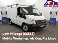 USED 2013 13 FORD TRANSIT 2.2 300 LR, 3 Seats, Mobile Workshop, Air Conditioning, Rear Parking Sensors, Ply Lined **Drive Away Today** Over The Phone Low Rate Finance Available