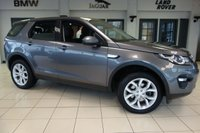 USED 2015 15 LAND ROVER DISCOVERY SPORT 2.2 SD4 HSE 5d AUTO 190 BHP full land rover service history FINISHED IN STUNNING CORRIS GREY WITH FULL BLACK LEATHER SEATS + FULL LAND ROVER SERVICE HISTORY + SATELLITE NAVIGATION + PANORAMIC ROOF + REVERSE CAMERA + 7 SEATS + HEATED FRONT SEATS + 19 INCH ALLOYS + XENON HEADLIGHTS + CRUISE CONTROL + DAB RADIO