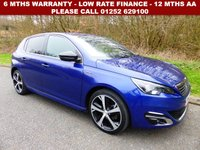 USED 2016 16 PEUGEOT 308 1.6 BLUE HDI S/S GT LINE 5d 120 BHP All retail cars sold are fully prepared and include - Oil & filter service, 6 months warranty, minimum 6 months Mot, 12 months AA breakdown cover, HPI vehicle check assuring you that your new vehicle will have no registered accident claims reported, or any outstanding finance, Government VOSA Mot mileage check. Because we are an AA approved dealer, all our vehicles come with free AA breakdown cover and a free AA history check.. Low rate finance available. Up to 3 years warranty available.