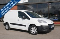 USED 2014 14 PEUGEOT PARTNER 1.6 HDI PROFESSIONAL L1 850 1d 89 BHP REAR LOAD LINER, INTERNAL RACKING, AIR CON, 3 FRONT SEATS, FULL HISTORY