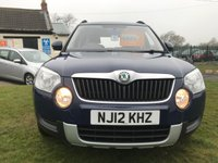 USED 2012 12 SKODA YETI 2.0 S TDI CR 4X4 1 owner plus Skoda 10 stramps very well looked after car