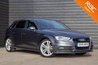 USED 2015 15 AUDI A3 2.0 TDI S LINE 5d AUTO 148 BHP £0 DEPOSIT BUY NOW PAY LATER - NAVIGATION - REAR PRIVACY GLASS