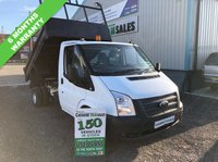 USED 2012 62 FORD TRANSIT 2.2 350 DRW 100 BHP SINGLE CAB TIPPER 6 MONTHS RAC WARRANTY  6 MONTHS RAC GOLD WARRANTY