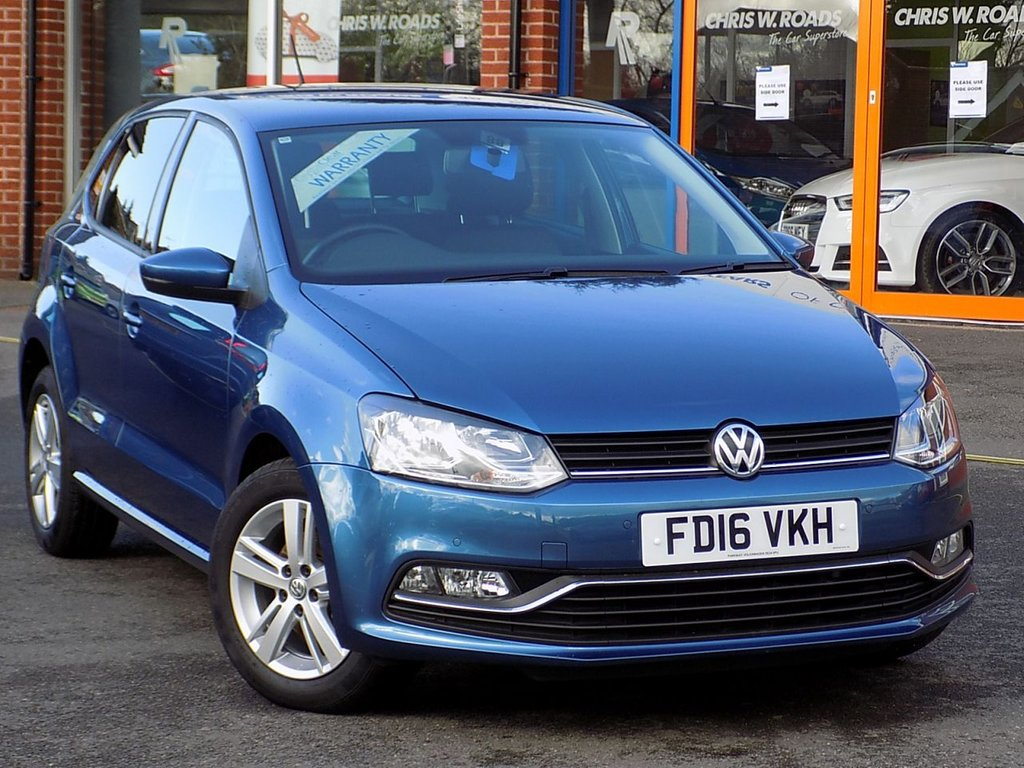 USED 2016 16 VOLKSWAGEN POLO 1.2 TSi Match 5dr ** Rear Camera + Bluetooth **