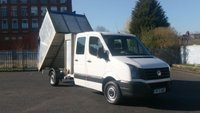 2013 VOLKSWAGEN CRAFTER 35 2.0 TDI 109 LWB CREW CAB TIPPER WITH ALLOY HI SIDE BACK 1 OWNER 3 SERVICES STAMPS 2 KEYS FREE 12 MONTHS WARRANTY COVER £9490.00