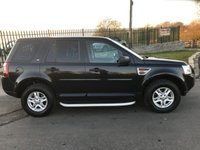 2007 LAND ROVER FREELANDER 2.2 TD4 S AUTO 160ps LAST OWNER 6 YEARS IN BLACK LOW MILES  £6195.00