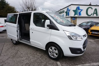 2015 FORD TRANSIT CUSTOM 290 2.2 TDCI 125 SWB LIMITED CREWCAB 6DR ( 6 SEATER ) £11689.00