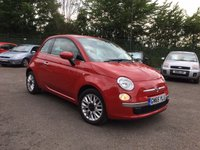 USED 2015 65 FIAT 500 1.2 POP STAR 3d ONE LADY OWNER FROM NEW  NO DEPOSIT  PCP/HP FINANCE ARRANGED, APPLY HERE NOW