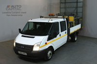 USED 2013 63 FORD TRANSIT 2.2 350 124 BHP D/CAB TWIN WHEEL TRAFFIC MANAGEMENT DROPSIDE REAR BED LENGTH 9 FOOT 4 INCH