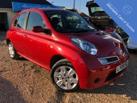 USED 2008 08 NISSAN MICRA 1.2 ACENTA 5d 80 BHP Full Service History - 10 Stamps