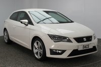 USED 2015 15 SEAT LEON 1.4 TSI FR TECHNOLOGY 3DR 150 BHP FULL SERVICE HISTORY 1 OWNER £20 ROAD TAX  FULL SEAT SERVICE HISTORY + £20 12 MONTHS ROAD TAX + HALF LEATHER SEATS + SATELLITE NAVIGATION + PARKING SENSOR + BLUETOOTH + CRUISE CONTROL + CLIMATE CONTROL + MULTI FUNCTION WHEEL + DAB RADIO + ELECTRIC WINDOWS + RADIO/CD/AUX/USB + ELECTRIC MIRRORS + 17 INCH ALLOY WHEELS