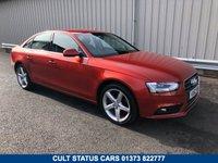 USED 2012 62 AUDI A4 3.0 V6 TDI QUATTRO SE AUTO 241 BHP SALOON 2 OWNERS, FSH, SAT NAV, STUNNING 4X4 SLEEPER!