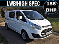 2015 FORD TRANSIT CUSTOM 2.2 310 LIMITED LR DCB 1d 153 BHP £13750.00