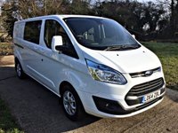 USED 2015 64 FORD TRANSIT CUSTOM 2.2 310 LIMITED LR DCB 1d 153 BHP LONG WHEEL BASE, 155 BHP, 48,000 MILES  FULL SERVICE HISTORY