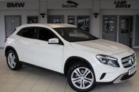 USED 2015 15 MERCEDES-BENZ GLA-CLASS 2.0 GLA250 4MATIC SPORT EXECUTIVE 5d 211 BHP FINISHED IN STUNNING CALCITE WHITE WITH HALF LEATHER SEATS + FULL SERVICE HISTORY + COMAND SATELLITE NAVIGATION + REVERSE CAMERA + BLUETOOTH + ELECTRIC TAILGATE +  HEATED FRONT SEATS + 18 INCH ALLOYS + AIR CONDITIONING + CRUISE CONTROL....