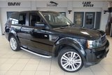 USED 2010 59 LAND ROVER RANGE ROVER SPORT 3.0 TDV6 HSE 5d 245 BHP FINISHED IN STUNNING BLACK WITH BLACK FULL LEATHER + EXCELLENT SERVICE HISTORY + SATELLITE NAVIGATION + REVERSE CAMERA +  HEATED FRONT SEATS + BLUETOOTH + DAB RADIO + PARKING SENSORS