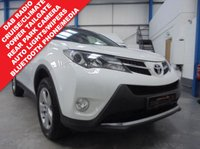 "USED 2013 63 TOYOTA RAV4 2.0 ICON D-4D 5d 124 BHP Comprehensive Service History, Rear Parking Camera, Bluetooth Phone and Media Streaming, Power Tailgate, DAB Radio/CD/BT/USB/Aux, Cruise Control, Dual Zone Climate, Power Fold Mirrors, Remote Locking with 3 Keys, 17"" Alloys"