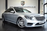 """USED 2016 65 MERCEDES-BENZ S CLASS 3.0 S 350 D L AMG LINE 4DR AUTO 255 BHP full mercedes service history FINISHED IN STUNNING IRIDIUM METALLIC SILVER WITH FULL BLACK LEATHER INTERIOR + FULL MERCEDES SERVICE HISTORY + COMAND SATELLITE NAVIGATION + BLUETOOTH + PANORAMIC ROOF + TOUCHPAD WITH ROTARY PUSHBUTTON + REAR-VIEW CAMERA + FRONT/REAR HEATED SEATS + DIRECT START / ECO START/STOP FUNCTION + DAB RADIO + VIRTUAL COCKPIT + LIGHT PACKAGE + CRUISE CONTROL + AMBIENCE ILLUMINATION+ ACTIVE PARK ASSIST + DYNAMIC LED HEADLAMPS + DVD SINGLE DRIVE + ELECTRIC FOLDING MIRRORS + 19"""" ALLOY WHEELS"""