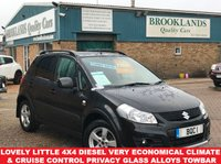 USED 2012 12 SUZUKI SX4 2.0 SZ5 DDIS 5d 135 BHP Cosmic Black Pearl Keyless Entry Towbar  Lovely little 4x4 Diesel very Economical Climate & Cruise Control Privacy Glass Alloys