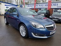 USED 2017 67 VAUXHALL INSIGNIA 1.6 DESIGN NAV CDTI ECOFLEX S/S 5d 134 BHP 0%  FINANCE AVAILABLE ON THIS CAR PLEASE CALL 01204 317705