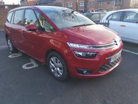 USED 2015 65 CITROEN C4 GRAND PICASSO 1.6 BLUEHDI VTR PLUS 5d AUTO 118 BHP AUTOMATIC DIESEL WITH ONLY 8538 MILES FROM NEW. CHEAP TO RUN AND EXCELLENT FUEL ECONOMY!! LOW CO2 EMISSIONS (103G/KM) AND ONLY £20 ROAD TAX.GOOD SPECIFICATION INCLUDING CLIMATE CONTROL, PARKING SENSORS, ALLOY WHEELS AND 7 SEATS  FULL HISTORY AND 3 SERVICE STAMPS.