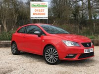 USED 2015 65 SEAT IBIZA 1.2 TSI CONNECT 3dr Sat Nav, Leather, Bluetooth