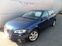 USED 2011 11 AUDI A3 1.4 SPORTBACK TFSI SE 5d 123 BHP ONLY 21000 MILES LADY OWNER