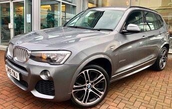 2015 BMW X3 3.0 XDRIVE30D M SPORT 5d AUTO 255 BHP £21500.00