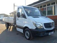 USED 2016 65 MERCEDES-BENZ SPRINTER 313 CDI LWB 14FT DROPSIDE, 130 BHP [EURO 5]