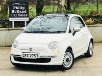 USED 2010 FIAT 500 1.2 LOUNGE 3d 69 BHP Full leather (vintage), Panoramic roof, Bluetooth