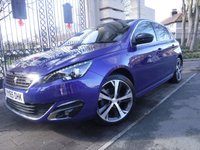 USED 2015 65 PEUGEOT 308 1.6 BLUE HDI S/S GT LINE 5d 120 BHP ****FINANCE ARRANGED****PART EXCHANGE WELCOME***SATT/NAV*£0 FREE TAX*DAB*CRUISE*BLUETOOTH*TOUCH SCREEN*AIR/CON