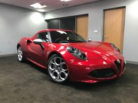 USED 2014 ALFA ROMEO 4C 1.7 TBI 2d AUTO 240 BHP+++ULTRA LOW MILEAGE+++ HUGE SPECIFICATION+++
