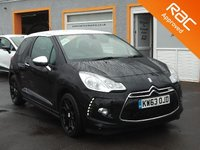 USED 2014 63 CITROEN DS3 1.6 E-HDI AIRDREAM DSPORT PLUS 3d 111 BHP Rear Parking Sensors, Black Leather Upholstery, Air Con