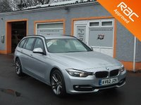 USED 2012 62 BMW 3 SERIES 2.0 320D SPORT TOURING 5d 181 BHP Black Leather Interior with red stitching, Heated Seats, Power Tailgate Open/Close, Reversing Camera