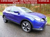 USED 2016 16 NISSAN QASHQAI 1.6 N-CONNECTA DCI XTRONIC 5d AUTO 128 BHP All retail cars sold are fully prepared and include - Oil & filter service, 6 months warranty, minimum 6 months Mot, 12 months AA breakdown cover, HPI vehicle check assuring you that your new vehicle will have no registered accident claims reported, or any outstanding finance, Government VOSA Mot mileage check. Because we are an AA approved dealer, all our vehicles come with free AA breakdown cover and a free AA history check.. Low rate finance available. Up to 3 years warranty available.