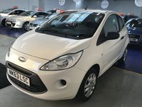 USED 2013 63 FORD KA 1.2 STUDIO 3d 69 BHP 2 LADY OWNERS, LOW MILES, FULL SERVICE HISTORY