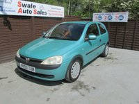 USED 2003 03 VAUXHALL CORSA 1.7 CLUB DIT 3d 64 BHP SEE FINANCE LINK FOR DETAILS