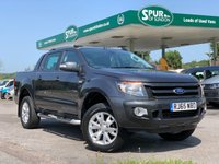 USED 2015 65 FORD RANGER 3.2 WILDTRAK 4X4 DCB TDCI 1d AUTO 197 BHP Rear Mountain Top, Only 28,000 Miles, 3.2 Automatic, Top Spec, SAT NAV, Air Con.