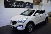 USED 2013 13 HYUNDAI SANTA FE 2.2 PREMIUM CRDI 5d 194 BHP GREAT VALUE - ONE PREVIOUS KEEPER - 6 STAMPS TO 80K - LEATHER - NAV - HEATED SEATS - PRIVACY GLASS