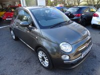 USED 2015 15 FIAT 500 1.2 LOUNGE 3d 69 BHP Finished in Groove Metal Metallic Grey. Low Mileage, Serviced by ourselves, One Previous Owner, MOT until March 2020, Great fuel economy! ONLY £30 Road Tax!