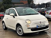 USED 2012 62 FIAT 500 1.2 LOUNGE 3d 69 BHP 1 FORMER KEEPER+12 MONTHS MOT
