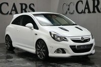 USED 2014 14 VAUXHALL CORSA 1.6 VXR NURBURGRING EDITION 3d 202 BHP Black Leather with Contrast Centre Panel Recaro Sports Seats + Nurburgring Embossed, Air Conditioning, Leather Flat Bottomed Multi Function Steering Wheel, 18 Inch Lightweight Forged Graphite Grey Alloy Wheels, Bluetooth Connectivity, Tyre Pressure Monitor