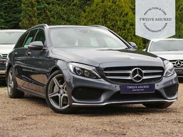 USED 2015 65 MERCEDES-BENZ C-CLASS 2.1 C300 H AMG LINE 5d AUTO 204 BHP (NAV, PAN ROOF & REAR CAMERA)