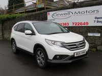 USED 2015 15 HONDA CR-V 2.2 I-DTEC EX 5d AUTO 4WD 148 BHP CAR FINANCE AVAILABLE+PANORAMIC GLASS ROOF+SATELLITE NAVIGATION+BLACK LEATHER SEATS