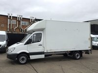 USED 2013 63 MERCEDES-BENZ SPRINTER 2.1 313CDI LWB LUTON BOX TAIL-LIFT 130BHP. 1 OWNER. FSH. 1 OWNER. LOW 92K. FSH. LOW FINANCE RATE. AA WARRANTY. PX