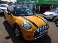 USED 2014 64 MINI HATCH COOPER 1.5 COOPER 3d 134 BHP CALL 01543 877320... 12 MONTHS MOT... 6 MONTHS WARRANTY... JUST ARRIVED