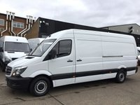 USED 2017 17 MERCEDES-BENZ SPRINTER 2.1 314CDI LWB HIGH ROOF 140BHP EURO6. SUPER LOW 15,800 MILES. 15,800 MILES. EURO 6. MERC WARRANTY 06/2020. FINANCE. PX