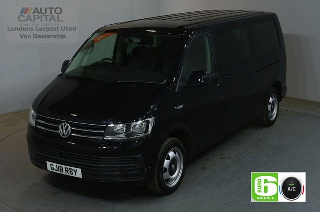 2018 18 VOLKSWAGEN TRANSPORTER SHUTTLE 2.0 T32 TDI SHUTTLE SE AUTO 148 BHP AIR CON LWB 9 SEATER EURO 6 MINIBUS 3 ZONE AIR CONDITIONING EURO 6